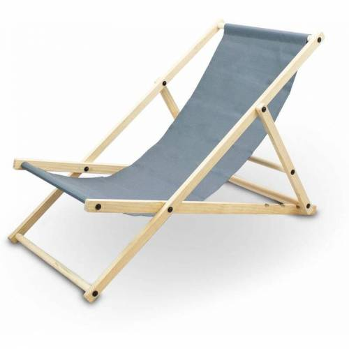 BITUXX Liegestuhl Sonnenliege Gartenliege Holzliege Strandliegestuhl