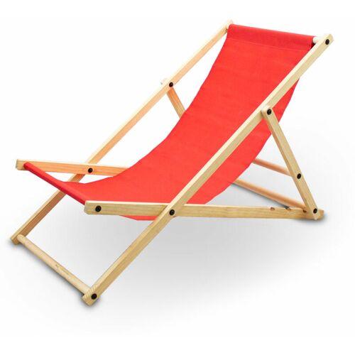 Bituxx - Liegestuhl Sonnenliege Gartenliege Holzliege Strandliegestuhl