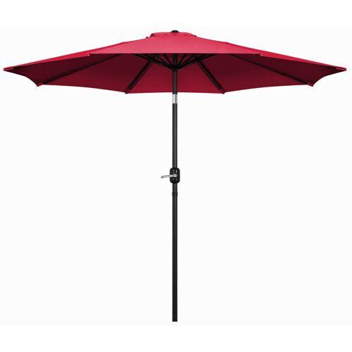 MONDEER 270cm Sonnenschirm , Kippbarer Gartenschirm, Marktschirm mit