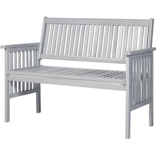 Outsunny ® 2-Sitzer Sitzbank Gartenbank Holzbank mit Armlehne Landhausstil