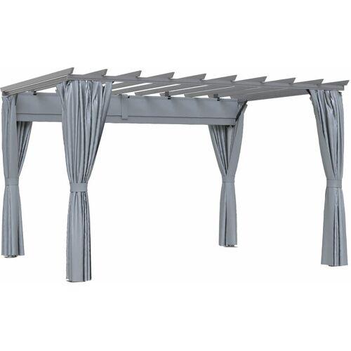Outsunny ® 3,6 x 3 m Pergola-Pavillion Abnehmbare Dach Sonnenschutz Grau