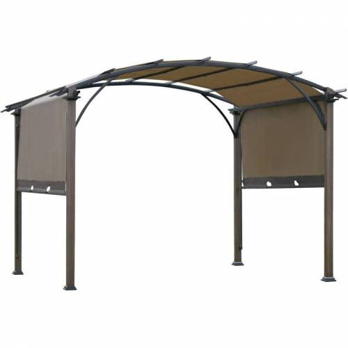 Outsunny ® Pavillon Pergola mit einstellbarem Stoffdach UV+50 Wasserfest