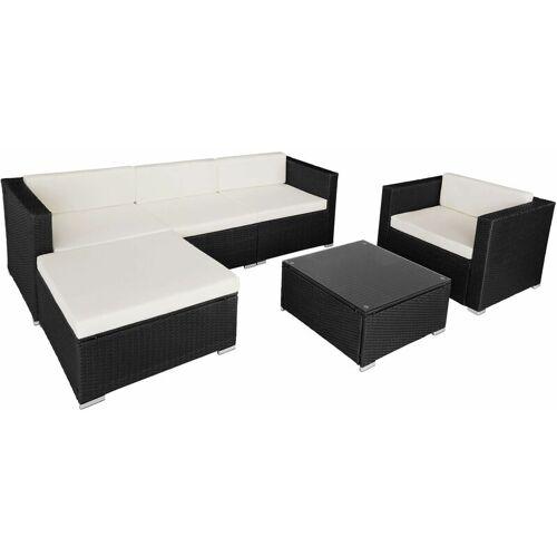 TECTAKE Rattan Lounge Milano - Loungemöbel, Gartenmöbel, Gartengarnitur