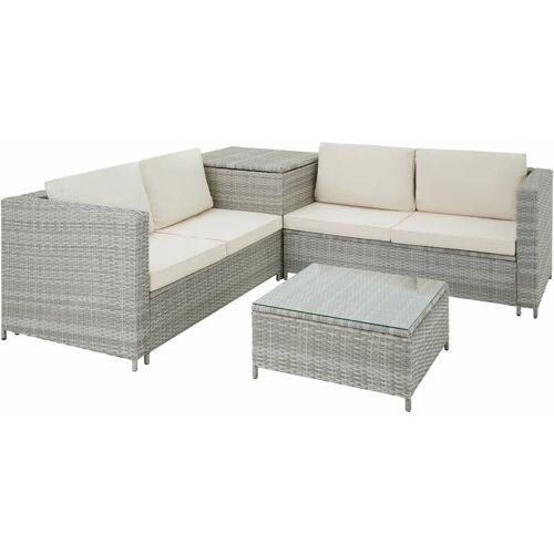 TECTAKE Rattan Lounge Siena - Loungemöbel, Gartenmöbel, Gartengarnitur