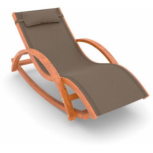 AMPEL 24 Schaukel- und Liegestuhl Rio, 170x70 cm, mit Kopfkissen
