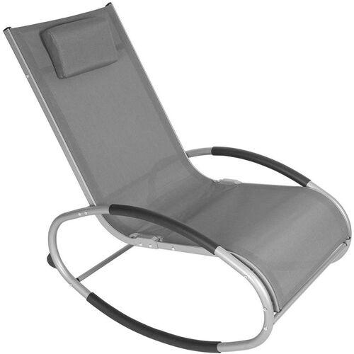 WOLTU Schwingliege Liegestuhl bis 160 KG belastbar Farbauswahl grau