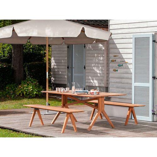 SEKEY Sonnenschirm ohne Neigung, Gartenschirm Marktschirm, Ø 3m - Taupe