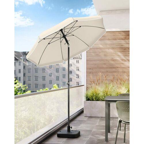 SONGMICS Sonnenschirm, 180cm, Marktschirm, Sonnenschutz, achteckiger