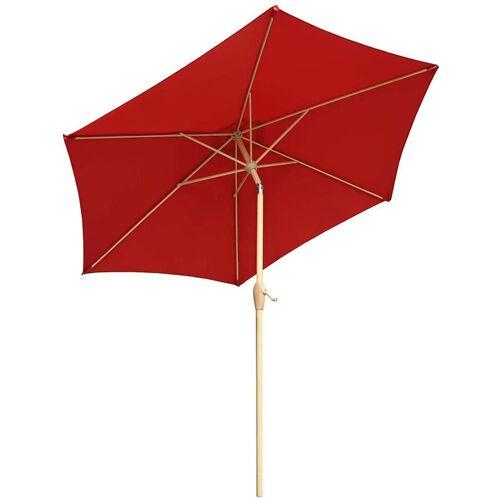 SEKEY Alu Sonnenschirm 270cm Kurbelschirm Sonnenschutz UV50+, Rot