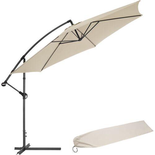 TECTAKE Sonnenschirm Ampelschirm Ø 350cm mit Schutzhülle - Ampelschirm,