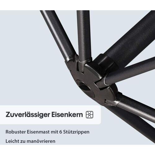 SEKEY Sonnenschirm Ampelschirm Marktschirm Kurbelsonnenschirm Ø300cm