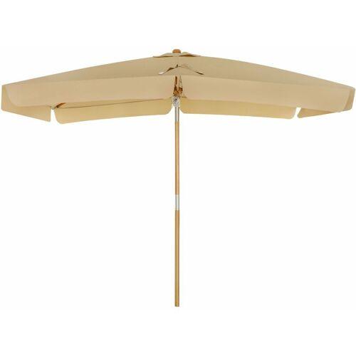 SONGMICS Sonnenschirm für den Balkon, 300 x 200 cm, rechteckiger Balkonschirm,