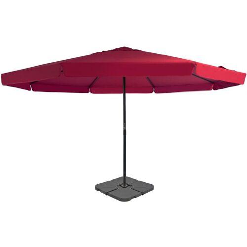 VIDAXL Sonnenschirm mit Schirmständer Rot