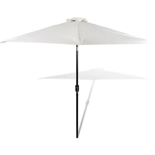 VIDAXL Sonnenschirm Strandschirm Sonnenschutz Garten Schirm Sandweiß 3m