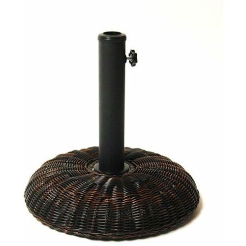 DEMA Sonnenschirmständer Schirmständer im Rattan Design 16 kg Ständer für