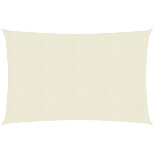 VIDAXL Sonnensegel 160 g/m² Creme 2x3 m HDPE