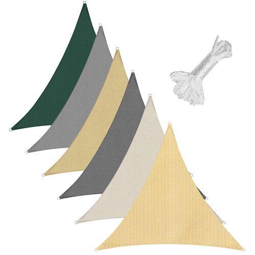 SEKEY Sonnensegel Sonnenschutzsegel Sonnenschutz Dreiecke HDPE, Taupe / 5x5x5m