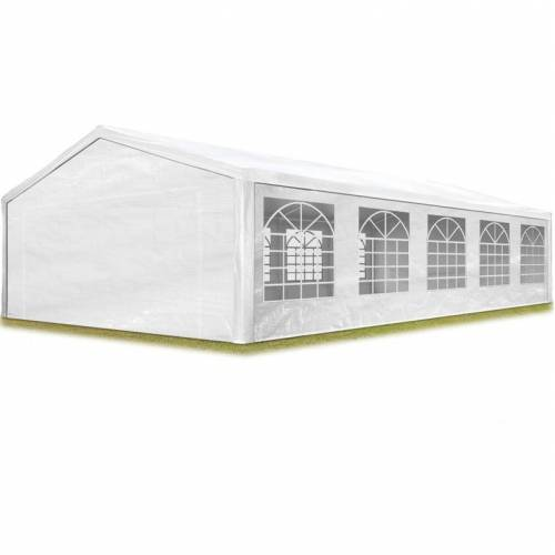 PROFIZELT24 TOOLPORT Partyzelt Pavillon 5x10 m in weiß 180 g/m² PE Plane