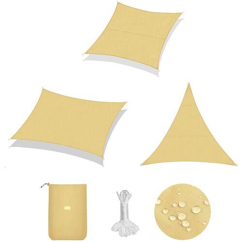 SEKEY Sonnensegel Sonnenschutz   Stoffe: 160g/m² Polyester   Imprägniert 95%