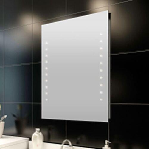 YOUTHUP Badspiegel mit LED-Leuchten Einfacher Badezimmerspiegel 50×60 cm