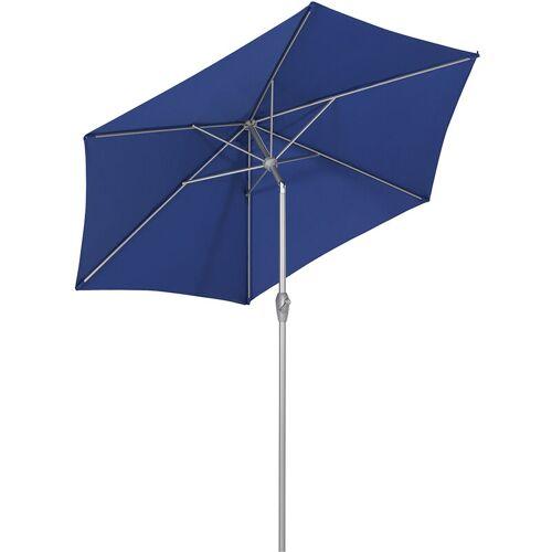 SEKEY Sonnenschirm UV-Schutz 50 Gartenschirm Ø 2,7m Kurbelschirm neigbar