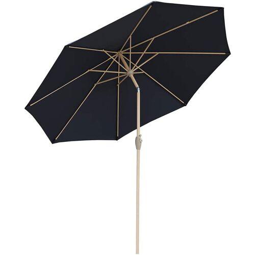 SEKEY 300 cm Sonnenschirm mit Holzmetall Gartenschirm Marktschirm Schirm