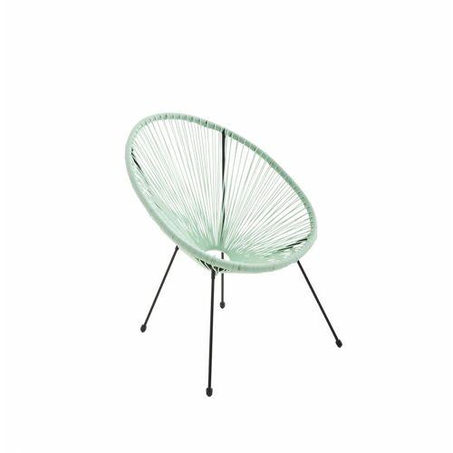 ALICE'S GARDEN ACAPULCO eiförmiger Sessel - Wassergrün - 4-beiniger Sessel im