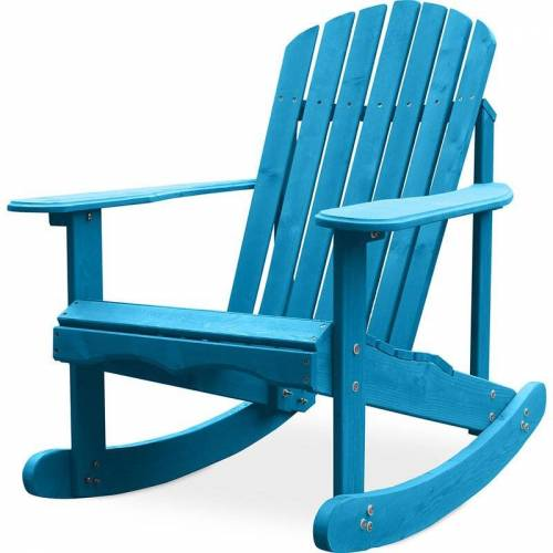 PRIVATEFLOOR Adirondack Garten Schaukelstuhl Turquoise