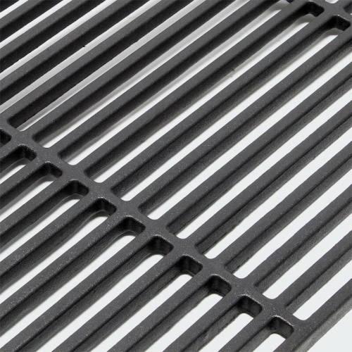 MERCATOXL Grillrost Gusseisen eckig 54 x 34 cm Gussrost massiv Grill