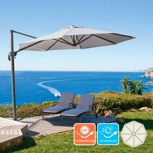 ELIOS PARASOLS Ampelschirm 3m Pendelschirm Garten Café Alu Paradise