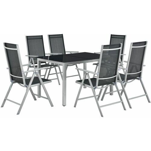 ArtLife Juskys Aluminium Gartengarnitur Milano   Gartenmöbel Set mit Tisch und