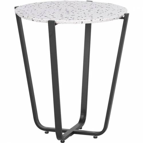 Beliani - Beistelltisch Grau Schwarz 50 x 55 cm Dekorativer Tischplatte