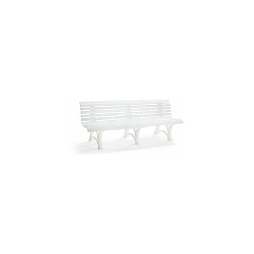 BLOME Sitzbank   Kunststoff   Breite 2000 mm   Weiß Bank Bank aus Holz\