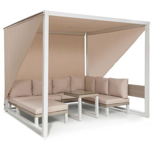 BLUMFELDT Havanna Pavillon & Lounge-Set 270x230x270cm 4 Zweisitzer Stahl