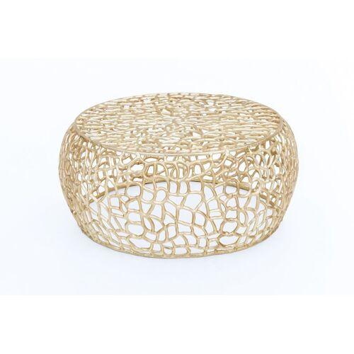 INDEX-LIVING Design Couchtisch Draht gold Metalltisch Beistelltisch Wohnzimmertisch