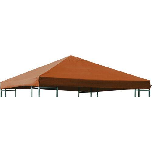 DEGAMO Ersatzdach für Metall- und Alupavillon 3x3 Meter terracottafarben,