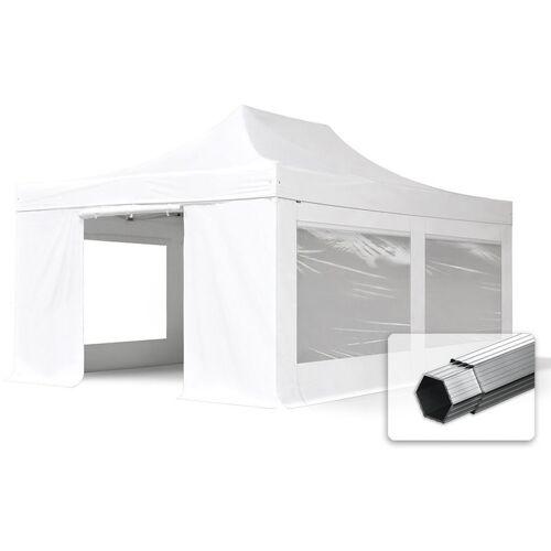 PROFIZELT24 ALU Pavillon Faltpavillon 4x6m mit Panoramafenstern robust und