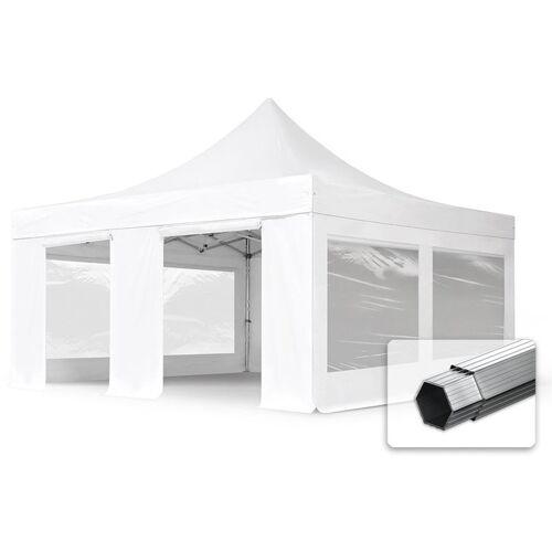 PROFIZELT24 ALU Pavillon Faltpavillon 5x5m mit Panoramafenstern robust und