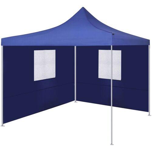 VIDAXL Faltzelt mit 2 Wänden 3x3m Blau