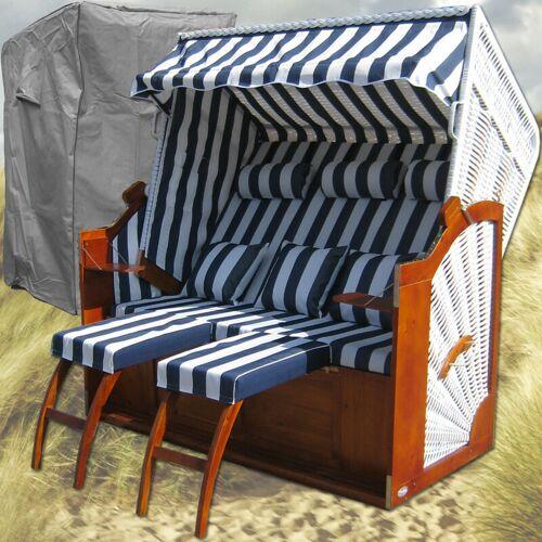 Gardeni - Friesland Strandkörbe # blau # Schutzhülle # 2x komplette