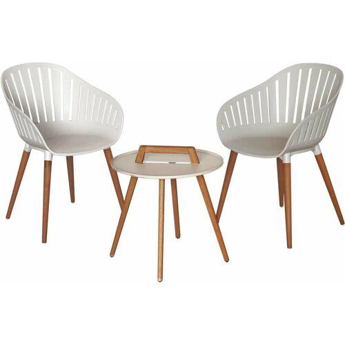 CHILLVERT Garten-Set Lacio Holz und Harz 2 Stühle + 1 Tisch Weiß - Chillvert