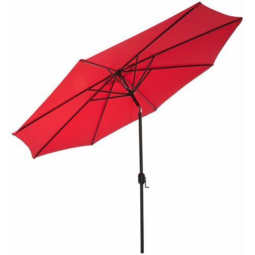 GARTENFREUDE Sonnenschirm 270 cm, rot - Rot - Gartenfreude