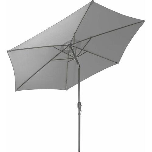 GARTENFREUDE Sonnenschirm, Stahl, 300 cm, grau - Grau - Gartenfreude