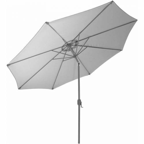 GARTENFREUDE Sonnenschirm, 300 cm, grau - Grau - Gartenfreude