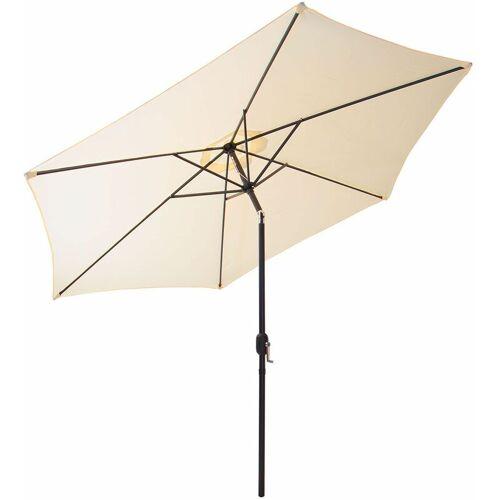 GARTENFREUDE Sonnenschirm, Stahl, 200 cm, creme - Creme - Gartenfreude
