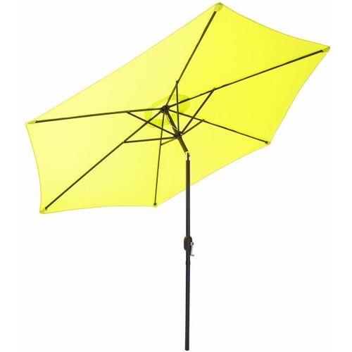GARTENFREUDE Sonnenschirm, Stahl, 200 cm, lemon - Lemon - Gartenfreude