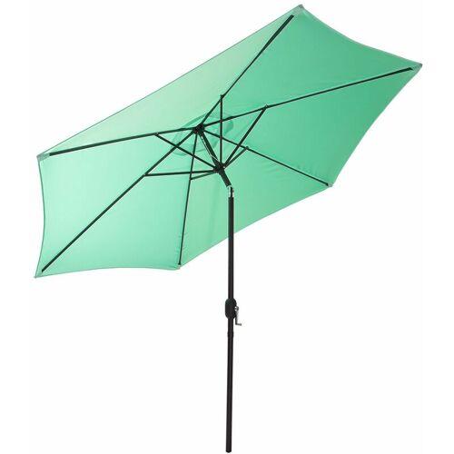 GARTENFREUDE Sonnenschirm, 200 cm, pastell grün - Grün - Gartenfreude