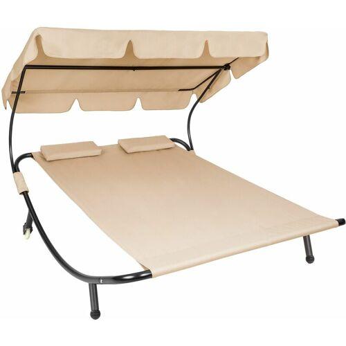 Tectake - Gartenliege für 2 Personen - Sonnenliege, Liegestuhl,