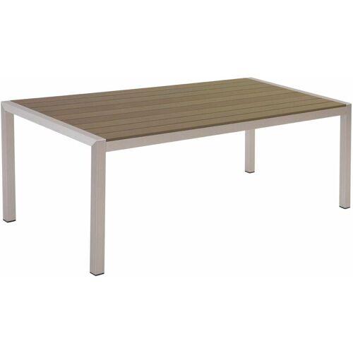 Beliani - Gartentisch Braun Aluminium für 6 Personen 180 x 90 cm Modern