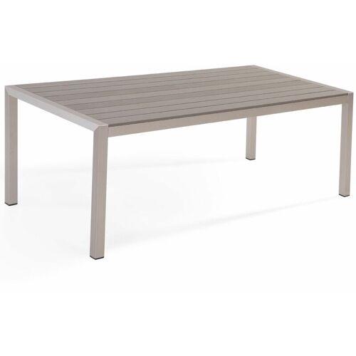 Beliani - Gartentisch Grau Aluminium für 6 Personen 180 x 90 cm Modern